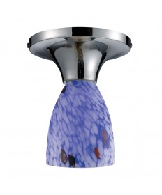 ELK Lighting 10152/1PC-BL Celina 1 Light Semi-flush in Polished Chrome and Starburst Blue Glass