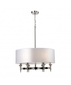 ELK Lighting 10162/6 Pembroke 6 Light Chandelier in Polished Nickel