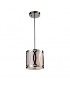 ELK Lighting 10172/1 Anastasia 1 Light Pendant in Polished Nickel