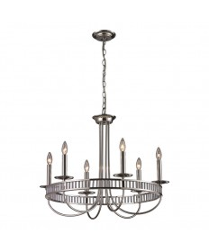 ELK Lighting 10231/6 Braxton 6 Light Chandelier in Polished Chrome