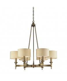 ELK Lighting 10263/6 Pembroke 6 Light Chandelier in Antique Brass