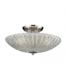 ELK Lighting 10271/3 Luminese 3 Light Semi-flush in Satin Nickel