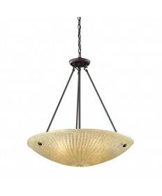 ELK Lighting 10282/4 Luminese 4 Light Pendant in Aged Bronze