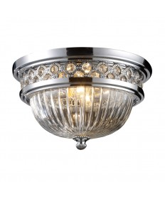 ELK Lighting 11225/2 Flushmount Flush Mount 2 Light in Polished Chrome