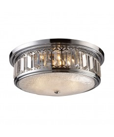 ELK Lighting 11227/3 Flushmount Flush Mount 3 Light in Polished Chrome