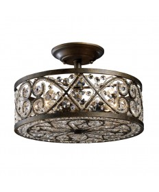 ELK Lighting 11286/4 Amherst 4 Light Semi-flush in Antique Bronze