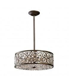 ELK Lighting 11287/6 Amherst 6 Light Pendant in Antique Bronze