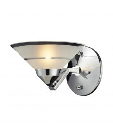 ELK Lighting 1470/1 Refraction 1 Light Sconce in Polished Chrome and Etched Clear Glass