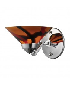 ELK Lighting 1470/1JAS Refraction 1 Light Sconce with Jasper Glass
