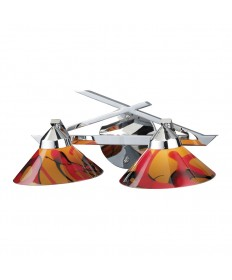 ELK Lighting 1471/2JAS Refraction 2 Light Wall Bracket in Polished Chrome and Jasper Glass