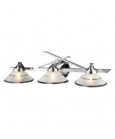 ELK Lighting 1472/3 Refraction 3 Light Wall Bracket in Polished Chrome and Etched Clear Glass