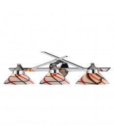 ELK Lighting 1472/3CRW Refraction 3 Light Wall Bracket in Polished Chrome and Creme White Glass