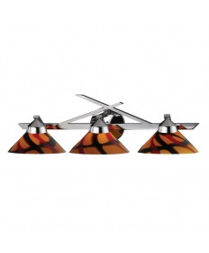 ELK Lighting 1472/3JAS Refraction 3 Light Wall Bracket in Polished Chrome and Jasper Glass