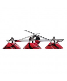 ELK Lighting 1472/3MAR Refraction 3 Light Wall Bracket in Polished Chrome and Mars Glass