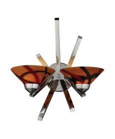 ELK Lighting 1478/2JAS Refraction 2 Light Sconce in Polished Chrome and Jasper Glass