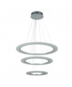 PLC Lighting 14842AL 1 Three ring Pendant from the Halo Collection