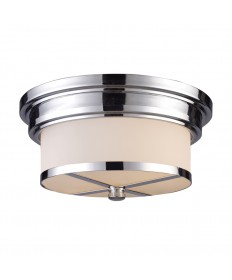 ELK Lighting 15015/2 Flushmount Flush Mount 2 Light in Polished Chrome