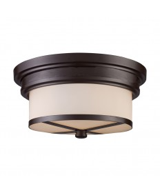 ELK Lighting 15025/2 Flushmount Flush Mount 2 Light in Oiled Bronze