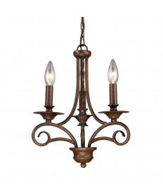 ELK Lighting 15041/3 Gloucester 3 Light Chandelier in Antique Bronze