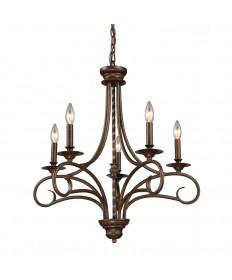 ELK Lighting 15042/5 Gloucester 5 Light Chandelier in Antique Bronze