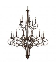 ELK Lighting 15044/12+6 Gloucester 12+6 Light Chandelier in Antique Bronze