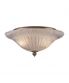 ELK Lighting 1511/2 Providence 2 Light Flush Mount in Silver Leaf