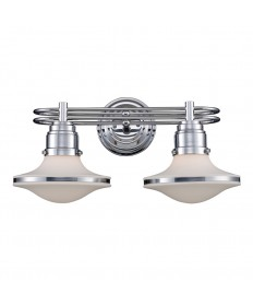 ELK Lighting 17051/2 Retrospectives Retrospective 2 Light Bath Bar in Polished Chrome