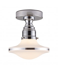 ELK Lighting 17053/1 Retrospectives Retrospective 1 Light Semi-flush in Polished Chrome