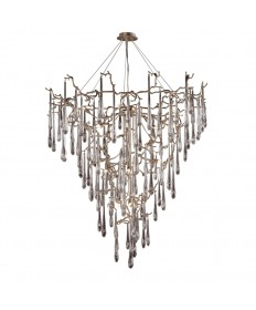 ELK Lighting 1745/19 Veubronce Veubronze 19 Light Chandelier Tahla Bronze with Clear Crystal