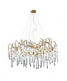 ELK Lighting 1747/15 Veubronce 15 Light Chandelier in Gold Leaf