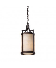 ELK Lighting 19000/1 Spanish Mosaic 1 Light Pendant in Aged Bronze