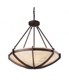 ELK Lighting 19003/6 Spanish Mosaic 6 Light Pendant in Aged Bronze