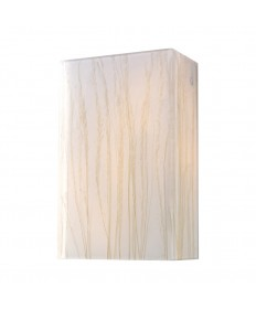 ELK Lighting 19030/2 Modern Organics-2-light Sconce in White Sawgrass Material in Polished Chrome