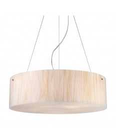 ELK Lighting 19033/5 Modern Organics-5-light Pendant in White Sawgrass Material in Polished Chrome