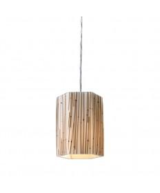 ELK Lighting 19061/1 Modern Organics-1-light Pendant in Bamboo Stem Material in Polished Chrome