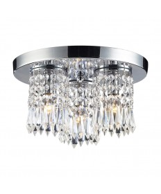 ELK Lighting 1990/3 Optix 3 Light Flush Mount in Polished Chrome