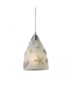 ELK Lighting 20000/1 Seashore 1 Light Pendant in Satin Nickel