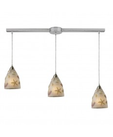 ELK Lighting 20000/3L Seashore 3 Light Pendant in Satin Nickel