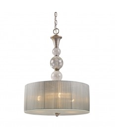 ELK Lighting 20007/3 Alexis 3 Light Pendant in Antique Silver
