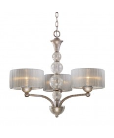 ELK Lighting 20008/3 Alexis 3 Light Chandelier in Antique Silver