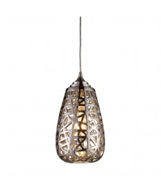 ELK Lighting 20064/1 Nestor 1 Light Pendant in Chrome