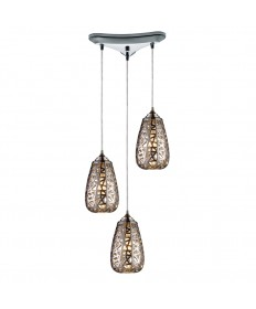ELK Lighting 20064/3 Nestor 3 Light Pendant in Chrome
