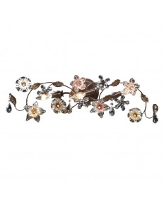 ELK Lighting 20075/3 Cristallo Fiore 3 Light Vanity in Deep Rust