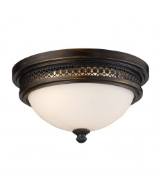 ELK Lighting 20100/2 Flushmount Flush Mount 2 Light in Deep Rust