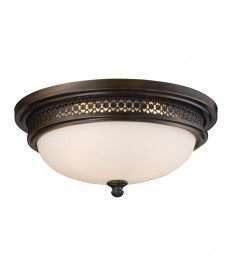 ELK Lighting 20101/3 Flushmount Flush Mount 3-lights in Deep Rust