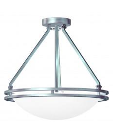 Access Lighting 20460GU-BS/WHT Aztec Semi Flush Bowl