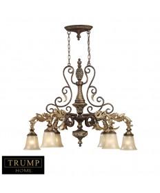 ELK Lighting 2161/6 Regency 6 Light Chandelier in Burnt Bronze