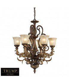 ELK Lighting 2163/6 Regency 6 Light Chandelier in Burnt Bronze