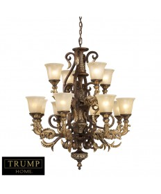 ELK Lighting 2165/8+4 Regency 12 Light Chandelier in Burnt Bronze
