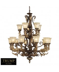 ELK Lighting 2166/10+5 Regency 15 Light Chandelier in Burnt Bronze